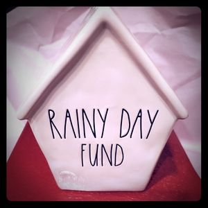 Rae Dunn Rainy Day Birdhouse Bank